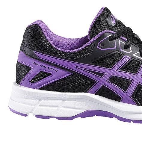 black and purple asics running shoes new arrivals asics gel galaxy 9 gs junior running shoe
