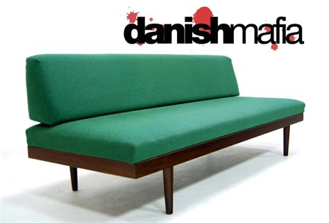 day bed sofa mid century danish modern teak sofa daybed couch eames