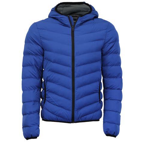 plain padded jacket mens brave soul grant jose hugo hooded plain quilted