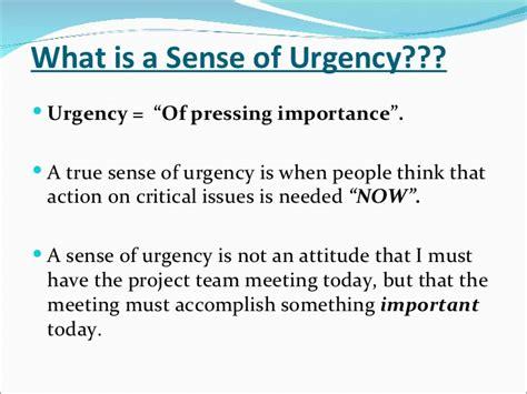 kotter sense of urgency a sense of urgency