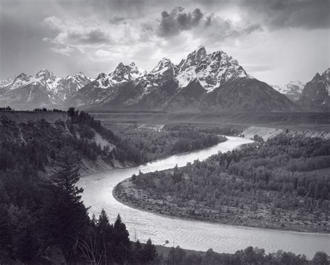 ansel adams in the ansel adams the tetons and the snake river art blart