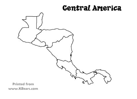 printable maps central america central america map coloring sketch coloring page