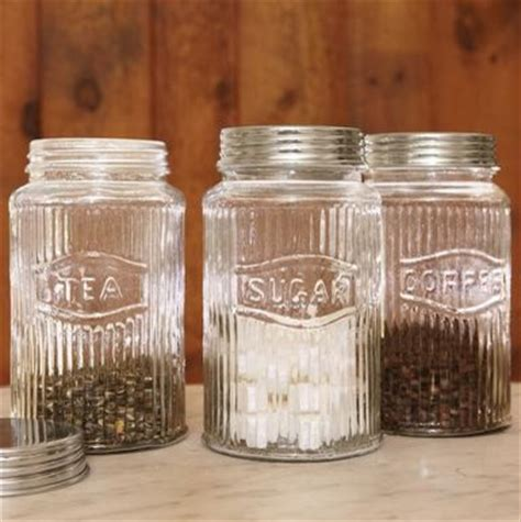 vintage glass canisters kitchen vintage pressed glass jars traditional kitchen canisters and jars by sundance catalog