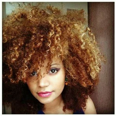colored afro great color curly afro naturally beautiful