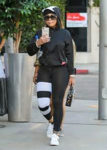 Gamis Los Spandex blac chyna in spandex out in los angeles