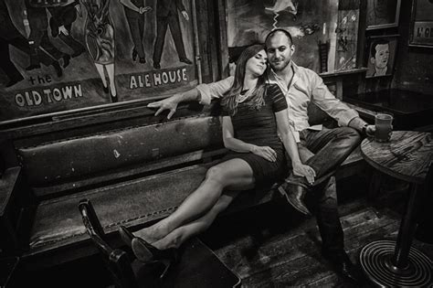 old town ale house cool engagement photos in chicago antique storetruly