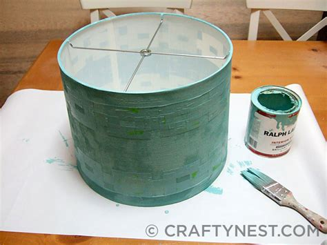 Can You Paint A L Shade by Paint Entire L Shade Crafty Nest