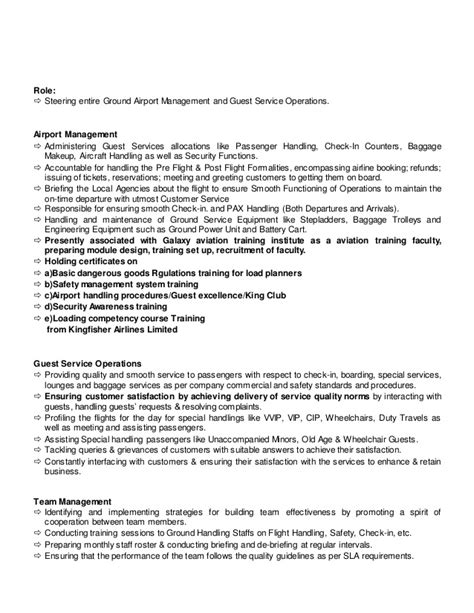 Airport Operations Manager Sle Resume by Resume Abhijit Copy