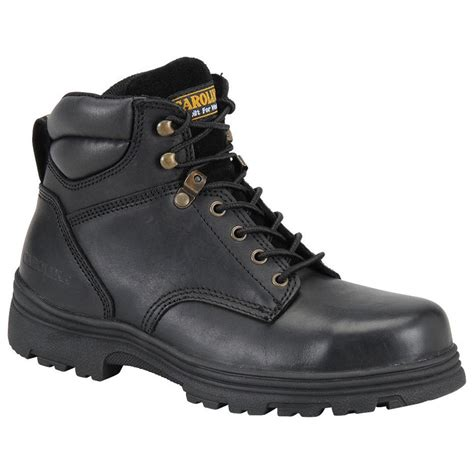 black steel toe boots for s carolina 174 svb 6 quot steel toe eh work boots black