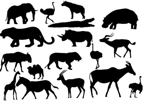 printable zoo animal silhouettes printable african stencils joy studio design gallery