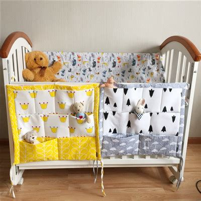 Crib Bedding Brands Promotion Muslin Tree Brand Baby Cot Bed Hanging Storage Bag Crib Organizer 60 50cm