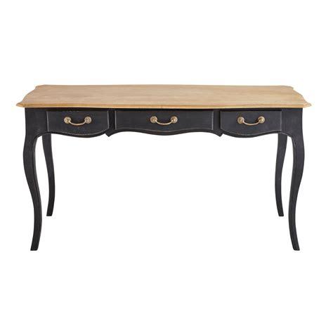 scrivania nera scrivania nera in mango maisons du monde