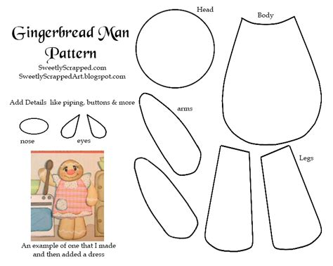 free printable gingerbread template gingerbread paper piecing pattern templates