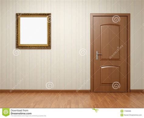 Room Door Frame Empty Room With Door And Frame Royalty Free Stock Image