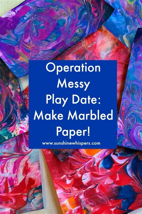 How To Make Marbled Paper - operation play date make marbled paper