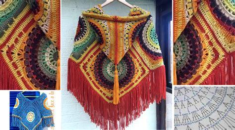 c 243 mo tejer almohad 243 n de flores conc 233 ntricas al crochet puntadas a crochet para ponchos c 243 mo tejer un poncho