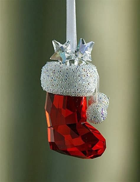 swarovski swarovski christmas ornament santas stocking  swarovski crystal