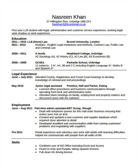 work experience cv baskan idai co