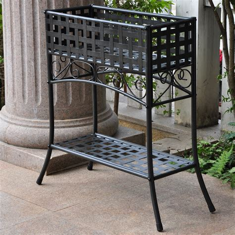 Planter Stands Outdoors by International Caravan Galleria Outdoor Plant Stand