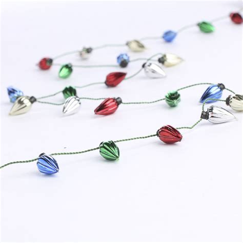 miniature metallic light bulb garland christmas garlands