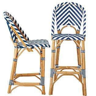 Bistro Rattan Counter Stool by Navy Bistro Woven Rattan Counter Stool Shells And