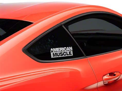 mustang back window decals americanmuscle mustang quarter window decal white 15 17