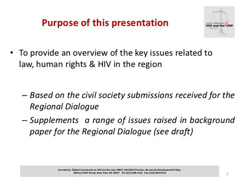 global commission on hiv and the law overview of key