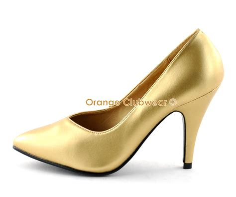 high heels for wide width pleaser 4 quot high heels classic basic gold pumps wide