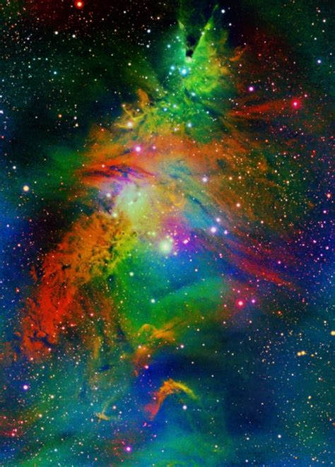 christmas tree nebula ngc 2264 space pinterest