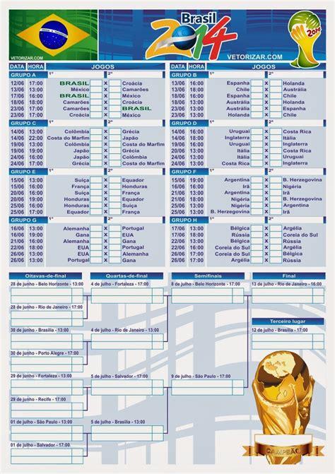 Tabela Da Copa Vetorizar Tabela Da Copa Do Mundo De 2014 Em Vetor