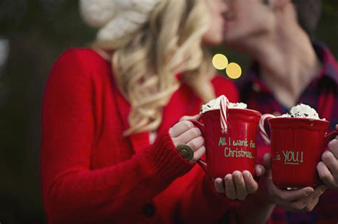 christmas photo shoot and surprise proposal bridalguide