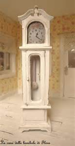 shabby grandfather clock 1 12 dolls house dollhouse