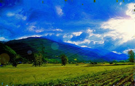 Landscape Portrait Definition Wallpaper Painting Nature Landscape Hd Widescreen