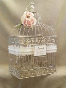wedding card box chagne birdcage pearls bird cage wedding card holder gold