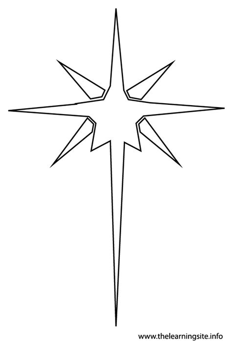 coloring page of the christmas star the learning site