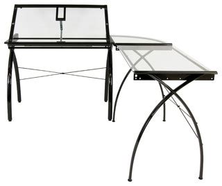 Corner Drafting Table Futura Ls Corner Workcenter With Tilt Modern Drafting Tables By Studio Designs