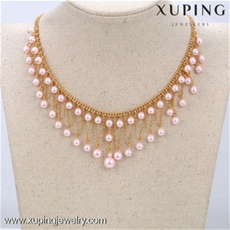 Set Xuping Silver Merah 1 42551 xuping pearl necklace designs bead necklace designs fashion pearl necklace