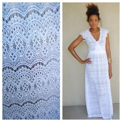White Lace Boho Maxi Dress | boho white scallop lace maxi dress hippie hippy long bohemian