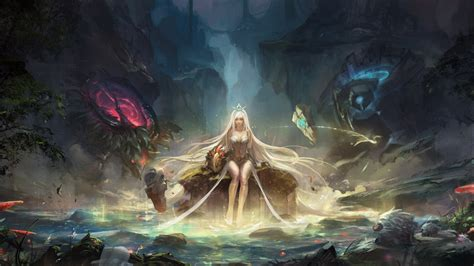wallpaper league  legends mythology darkness pc game