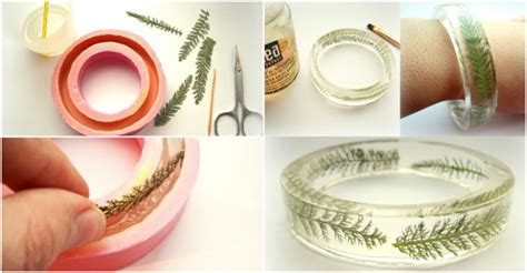 Handmade Tutorial - diy transparent floral bracelet tutorial