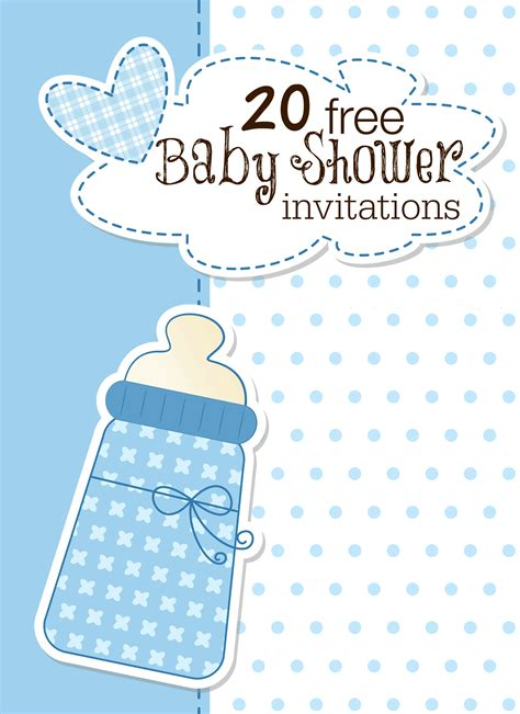 baby shower invite template printable baby shower invitations