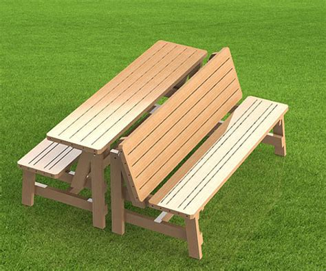 convertible ft bench  picnic table combination building