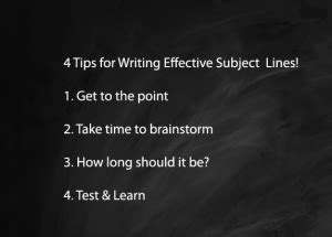 subject how to write effective subject lines 4 tips for writing effective emails subject lines