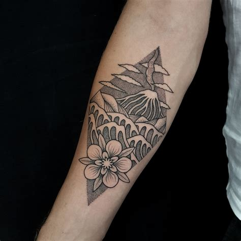geometric tattoo nz tristan marler sunset tatoo