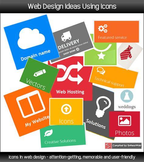 home decorating websites ideas web design ideas using icons