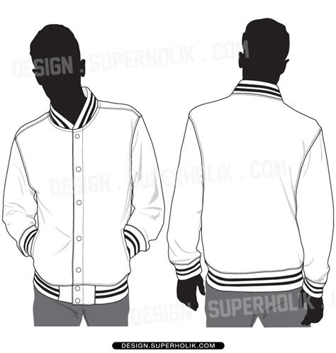 sports jacket template varsity jacket template set fashion vector templates in