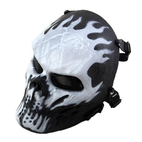 condition 1 tactical gear airsoft paintball skull protection mask outdoor