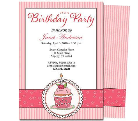 birthday program template 7 best images of free printable birthday program templates