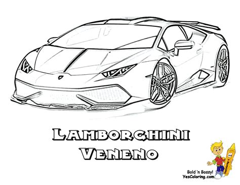 Lamborghini Coloring Pages Printable by Free Lamborghini Veneno Coloring Pages