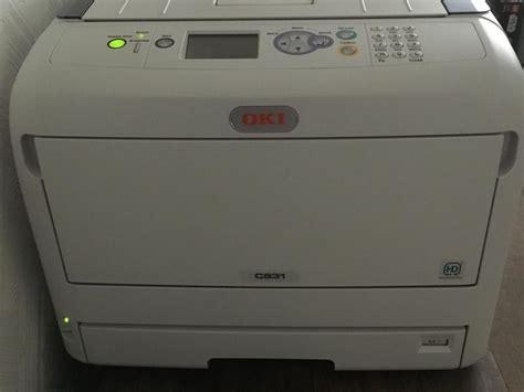 Printer Oki C831 oki c831 a3 colour laser printer east cowes wightbay